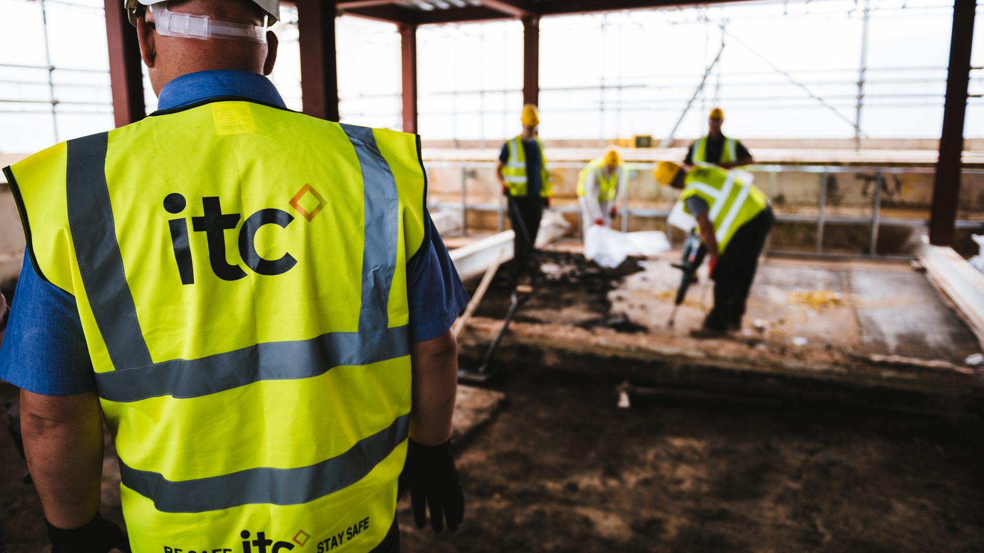ITC construction workers onsite