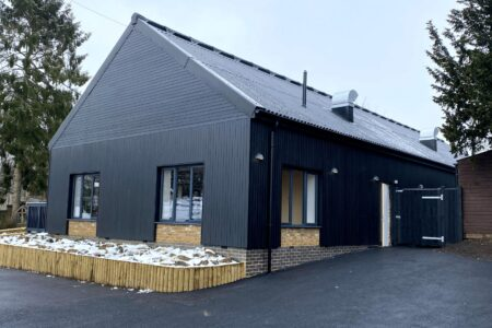 New Cafe and restaurant building at Godstone Farm