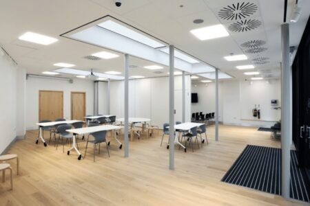 Desks and Teaching space in Harrow Library