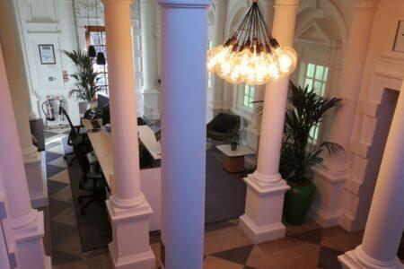 lighting of workspaces in Russell Buidling