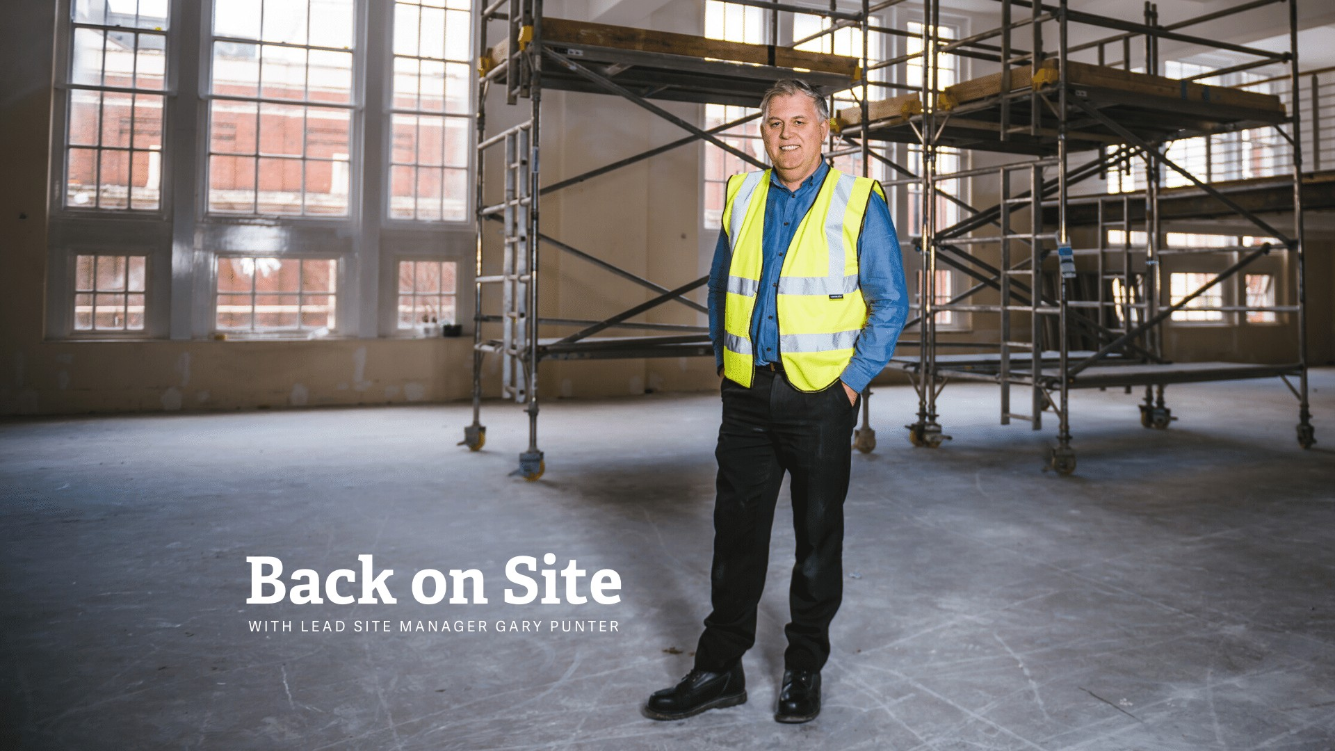 Back on site with Gary Punter