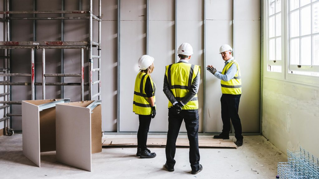 ITC Fit-Out specialists on site